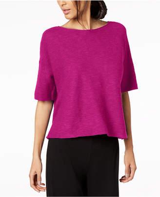 Eileen Fisher Organic Linen Boat-Neck Sweater, Regular & Petite