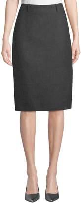Leon Max Slim Wool Skirt