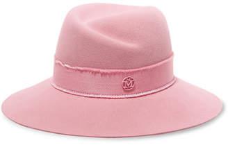 Maison Michel Virginie Rabbit-felt Fedora - Baby pink
