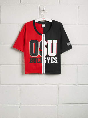PINK The Ohio State University Zipper Front Tee
