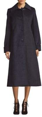 Jones New York Plaid Wool-Blend Maxi Coat