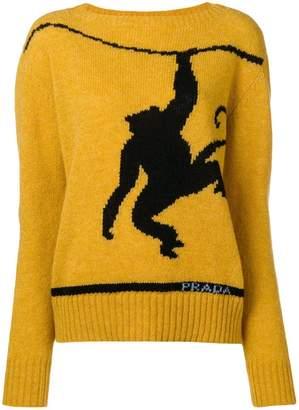 Prada contrast knit jumper