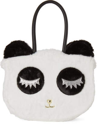 Betsey Johnson Luv Betsey By Black & White Alley Panda Fuzzy Tote