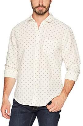 Life After Denim Men's Long Sleeve Slim Fit Tulum Printed Linen Shirt