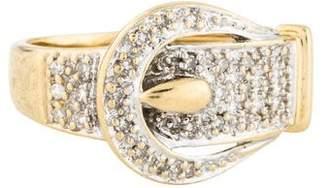 Ring 14K Diamond Buckle Band
