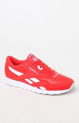 Reebok Classic Leather & Nylon Red Shoes