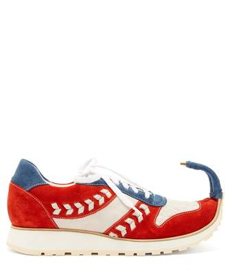 Loewe Dinosaur turn-up suede trainers