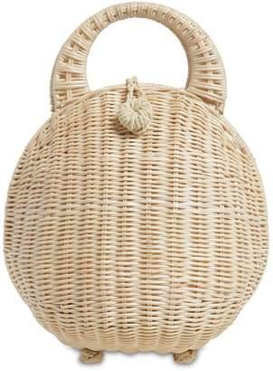 Cult Gaia Millie Rattan Top Handle Bag