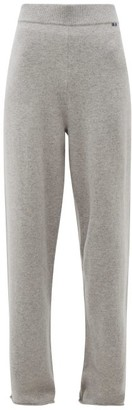 Extreme Cashmere - No.104 Stretch Cashmere Wide Leg Track Pants - Womens - Grey