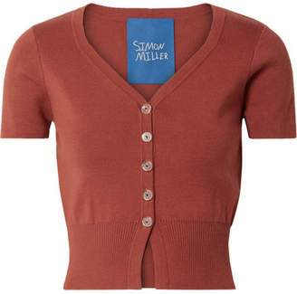 Simon Miller Senoia Cropped Cotton-blend Cardigan - Brick