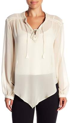 Haute Hippie Goldie Beaded Silk Blouse