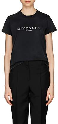 Givenchy Women's Logo Cotton Jersey T-Shirt - Black