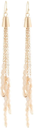 Panacea Crystal Chain Dangle Earrings, Peach