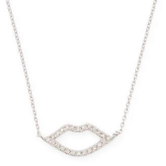 Sydney Evan 14K 0.12 Ct. Tw. Diamond Lips Necklace