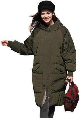you.u Winter Coat Women Anorak Long Puffer Down Coat Thick Waterproof Coat - S
