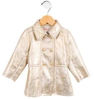 Billieblush Girls' Metallic Faux Shearling Coat w/ Tags