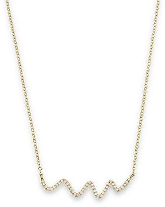 Meira T 18K Yellow Gold Diamond Squiggle Necklace, 16""