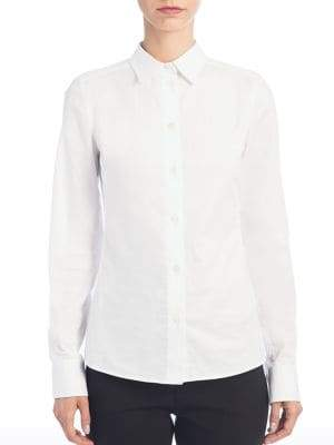 Dolce & Gabbana Dolce& Gabbana Dolce& Gabbana Women's Straight Cotton Shirt - White - Size 38 (2)