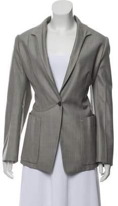 Saint Laurent Wool & Silk-Blend Structured Blazer