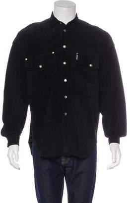 Versace Suede Shirt Jacket