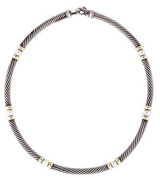 David Yurman Pearl Hampton Cable Necklace