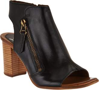 Miz Mooz Leather Block Heel Sandals - Summer