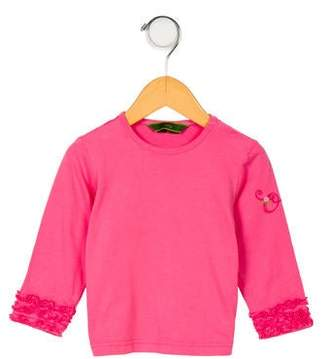 Oilily Girls' Ruffle-Trimmed Long Sleeve Top