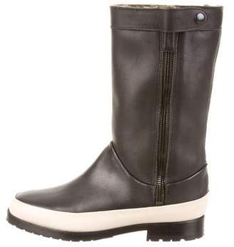 NewbarK Round-Toe Shearling Trimmed Boots