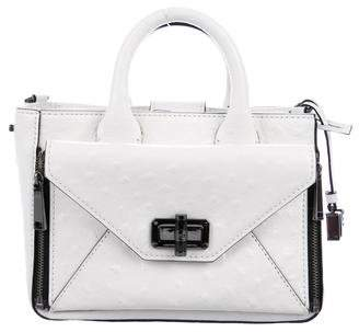 Diane von Furstenberg Embossed Mini Secret Agent Tote