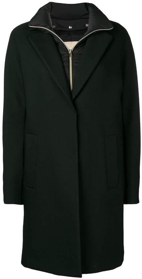 fleece lined overcoat