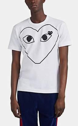 Comme des Garcons Men's Heart Cotton T-Shirt - White