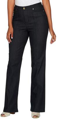 C. Wonder Petite Boot Cut Jeans with Seaming Detail