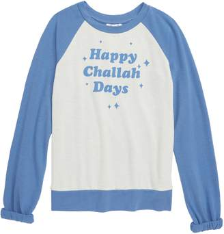 Ten Sixty Sherman Happy Challah Days Baseball Tee