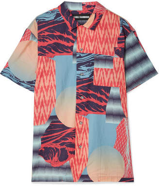 Double Rainbouu Printed Cotton-voile Shirt
