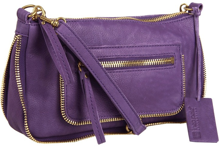 Linea Pelle Dylan Top Zip Crossbody (Amethyst) - Bags and Luggage