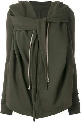 Rick Owens tie detail draped hoody