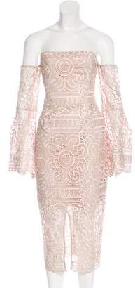 Nicholas Midi Crochet Lace Dress