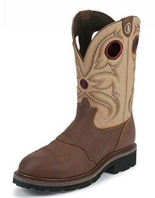 """Tony Lama Men's Snyder Cream 11"""" Height (RR3210) Steel Toe 