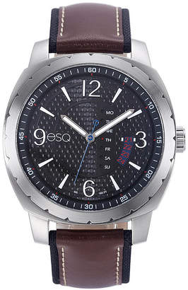ESQ Men's ESQ0110 Stainless Steel Watch, Black Dial, Day and Date Windows