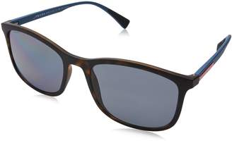 Prada Linea Rossa Men's 0PS 01TS Havana Rubber/Polarized Grey