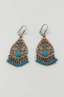 Private Label Sapphire Sky Peach&Turquoise Dangling Earring
