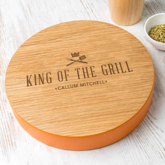 Dust and Things Mens 'King Of The Grill' Personalised Serving Board