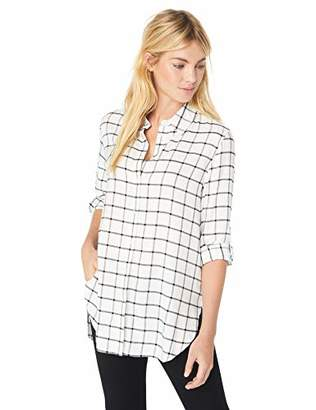 Calvin Klein Women's Windowpane Boyfriend Tunic