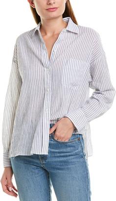Vince Boxy Striped Shirt