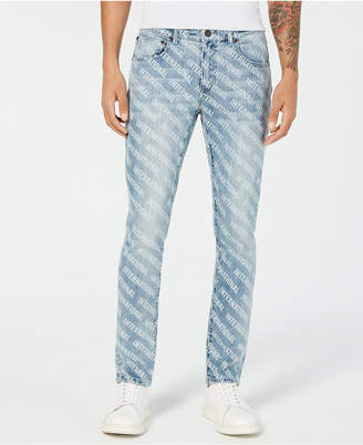 INC International Concepts I.n.c. Men Skinny-Fit Logo Graphic Jeans