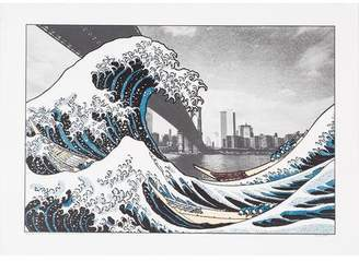 In the Hollow of the Deep Sea Wave, after Hokusai