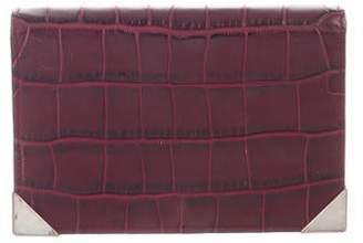 Alexander Wang Embossed Leather Flap Wallet