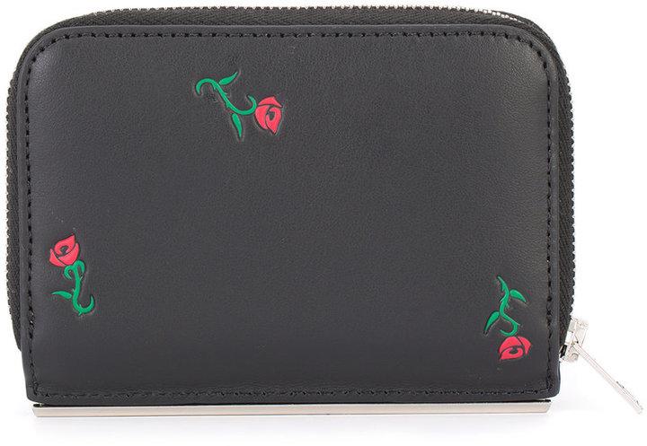 Alexander WangAlexander Wang rose embroidered wallet