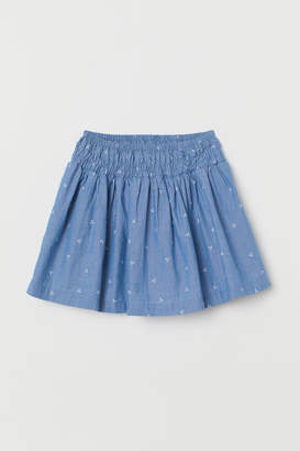 H&M Cotton skirt with smocking