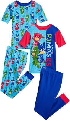 AME Pj Masks Little & Big Boys 4-Pc. Pj Masks Cotton Pajama Set